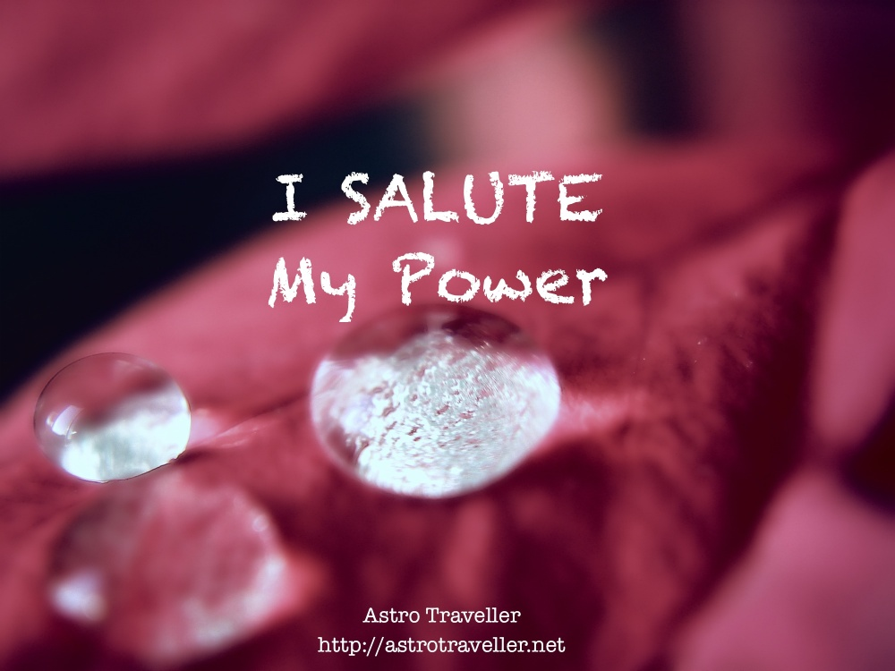 I salute my power