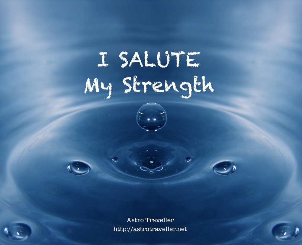 I salute my strength